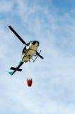 Firefighter Liftoff Stock Photo