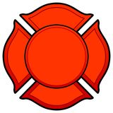 Firefighter Logo. A vector cartoon illustration of a Firefighter Logo concept Royalty Free Stock Photography