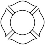Firefighter Maltese Cross Illustration Stock Photography