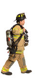 Firefighter mask  airpack protective suit Royalty Free Stock Photos