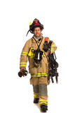 Firefighter mask  airpack protective suit Royalty Free Stock Image