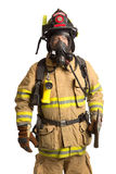 Firefighter with mask and fully protective suit Stock Photo