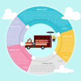Firefighter Office Infographic. Set of vector diagram illustration use for computer, business, creative, process and much more.The set can be used for several Royalty Free Stock Images