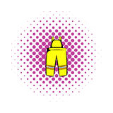 Firefighter pants icon, comics style. Firefighter pants icon in comics style on a white background Stock Images