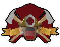 Firefighter patch. A Firefighter patch with symbols. Vector file available Royalty Free Stock Image
