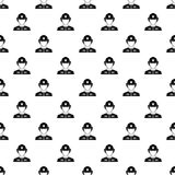 Firefighter pattern, simple style. Firefighter pattern. Simple illustration of firefighter vector pattern for web Royalty Free Stock Photography