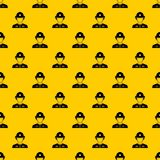 Firefighter pattern vector. Firefighter pattern seamless vector repeat geometric yellow for any design vector illustration