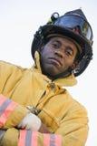 firefighter portrait στοκ εικόνα