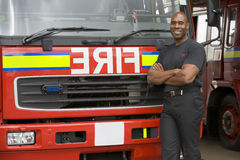 firefighter portrait standing στοκ εικόνες