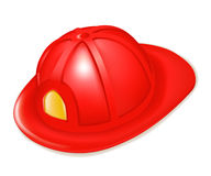 Firefighter's helmet. Illustration isolated on white Royalty Free Stock Photos