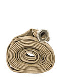 Firefighter's Hose on White. Fire Fighter's Hose Isolated On White Background Stock Image