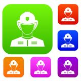 Firefighter set collection. Firefighter set icon in different colors isolated vector illustration. Premium collection Stock Image