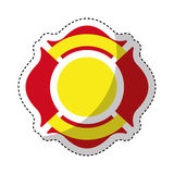 Firefighter shield isolated icon Royalty Free Stock Images