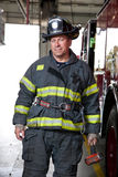 Firefighter Station Portrait Stock Image