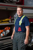Firefighter Station Portrait Stock Photos
