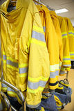 Firefighter suit and equipment ready for operation Royalty Free Stock Photo