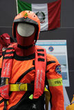Firefighter suite. At the The Big Blu - 7TH EDITION FOR THE BOAT AND SEA EXPO OF ROME  in Rome, Italy for the dates of February 20, 2013 through February 24 Stock Photography