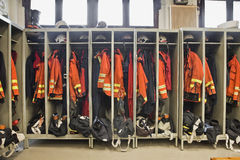 Firefighter suits Stock Images