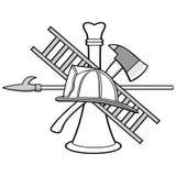 Firefighter Symbol Illustration. A vector illustration of a Firefighter Symbol royalty free illustration