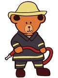 Firefighter teddy bear vector eps Hand drawn Crafteroks svg free, free svg file, eps, dxf, vector, logo, silhouette, icon, instant vector illustration