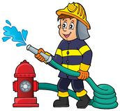 Firefighter theme image 1. Eps10 vector illustration Stock Photography