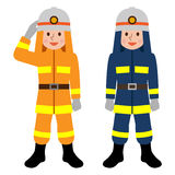 Firefighter to salute Stock Images