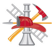Firefighter Tools Logo Stock Photos