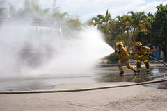 Firefighter Training Stock Photography