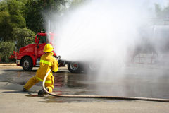 Firefighter Training Stock Image