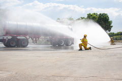 Firefighter Training Royalty Free Stock Image