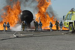 Firefighter training Royalty Free Stock Photography