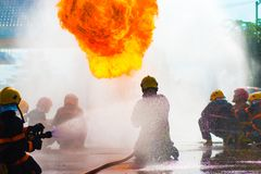 Firefighter Training Royalty Free Stock Photo
