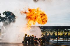 Firefighter Training Stock Images