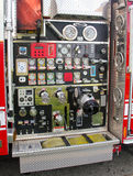 Firefighter truck controls Stock Photo