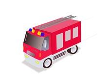 Firefighter truck. Illustration of firefighter truck on white background Stock Images