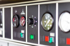 Firefighter truck instruments Stock Images