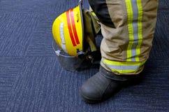 Firefighter uniform Stock Images