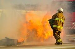 Firefighter. stock image