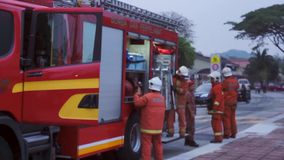 Firefighter on the work stock video footage