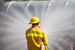 Firefighter Working Stock Images