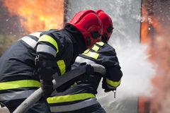 Firefighters. In action.  training Stock Images