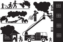 firefighters ilustração royalty free