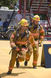 Firefighters in Action Royalty Free Stock Photo