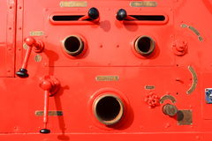 Firefighters car equipment Royalty Free Stock Image
