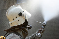 Firefighters in chemical protection suit Royalty Free Stock Photography