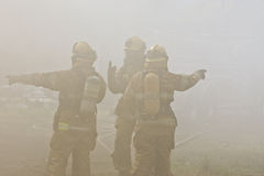 Firefighters Directions Stock Photography
