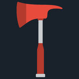 Firefighters emergency fire axe. Vector illustration of hatchet Royalty Free Stock Images