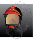 Firefighters gas mask. The source file is in illustrator Royalty Free Stock Image