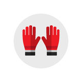 Firefighters gloves. Single silhouette fire equipment icon. Vector illustration. Flat style. Firefighters gloves. Single silhouette fire equipment icon. Vector Royalty Free Stock Photography