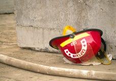 Firefighters helmet Stock Image